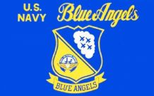 US NAVY BLUE ANGELS - 5 X 3 FLAG